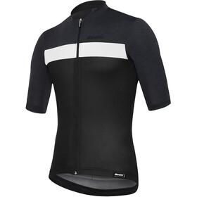 Santini Stile Maillot de cyclisme à manches courtes Homme, nero